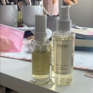 Ouai haircare hair oil and volume spray